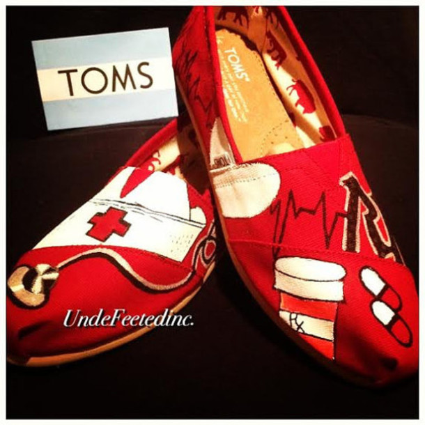 Shoes: rn, nurse, medecine, doctor, toms, custom, clothes, custom ...