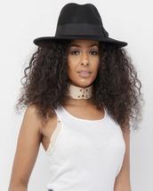 hat,fedora,black,black hat,black fedora,wool,wool hat,wool fedora