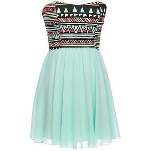 Strapless Tribal Dress
