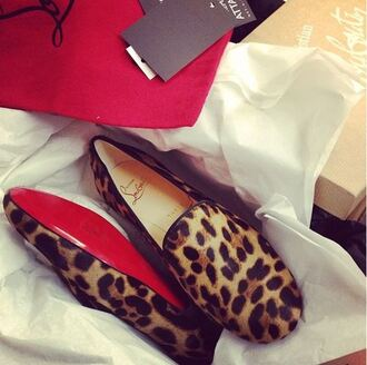 shoes leopard print loafers smoking slippers