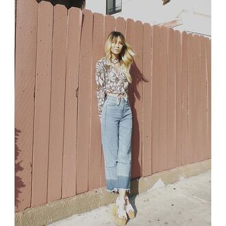 jeans nastygal flare cropped cropped flare wide leg denim two toned raw cut acid wash cotton