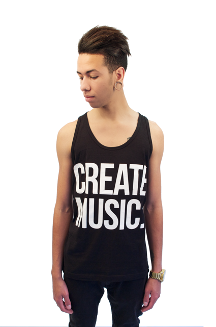 Create Music - Unisex Tank (Black)- Mens - Aspire And Create - Brands - Paper Alligator