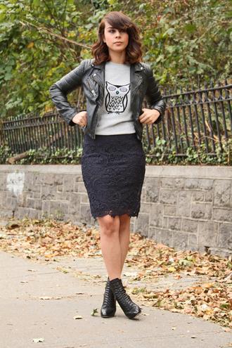 fashion bananas jacket sweater scarf skirt shoes