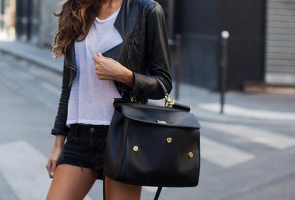 black bag bag handbag black handbag pretty bag jacket