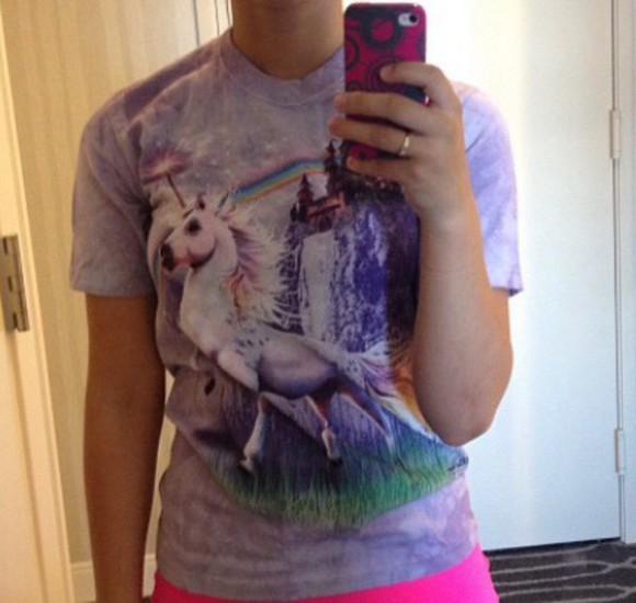 t-shirt tie dye shirt unicorn unicorn shirt purple tie dye