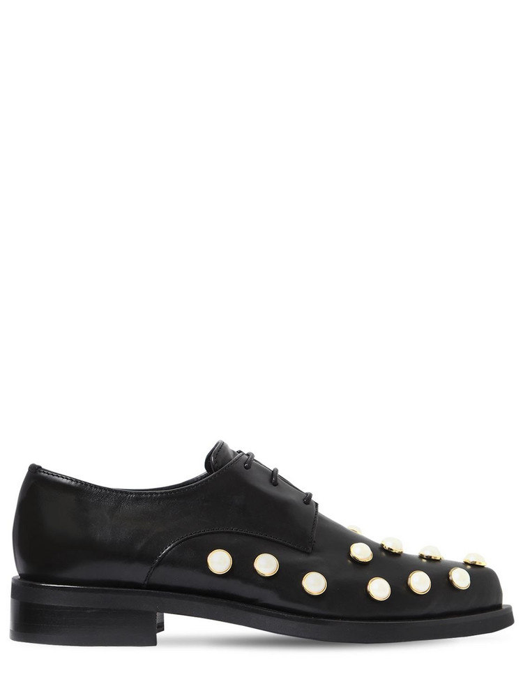COLIAC 20mm Joh Embellished Leather Shoes in black