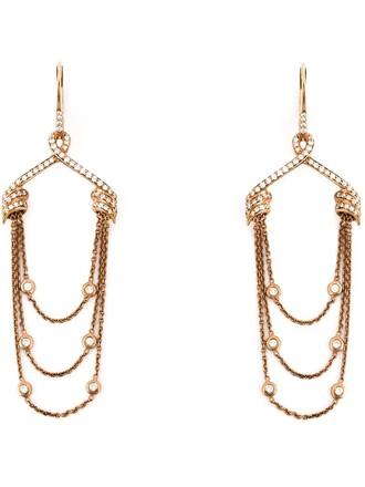 draped earrings purple pink jewels