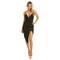 Mystique midi dress in black – noodz boutique