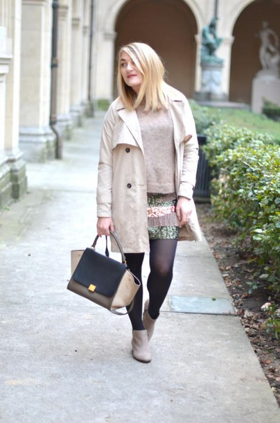 paris grenoble blogger coat shoes jewels