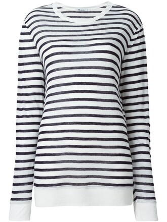 t-shirt shirt striped t-shirt black top