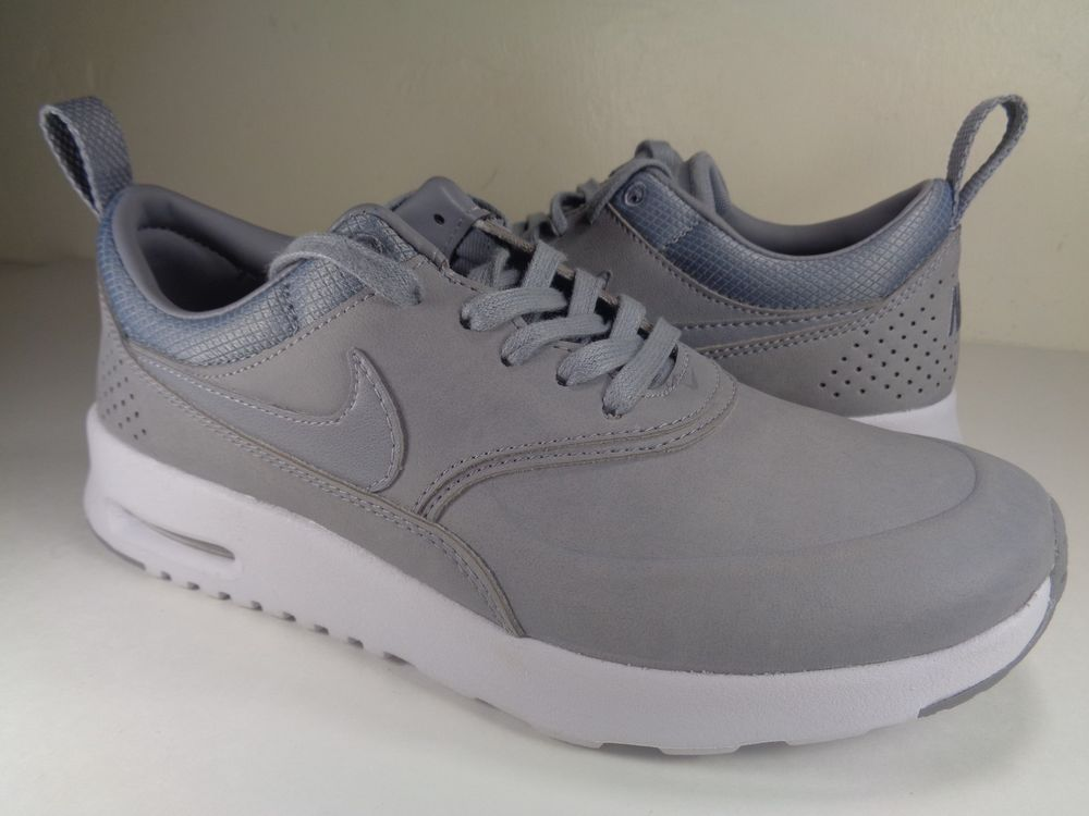 Womens Nike Air Max Thea Premium Stealth Grey Platinum White SZ 5 (616723 009)