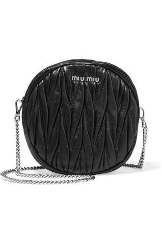 moon bag shoulder bag leather black