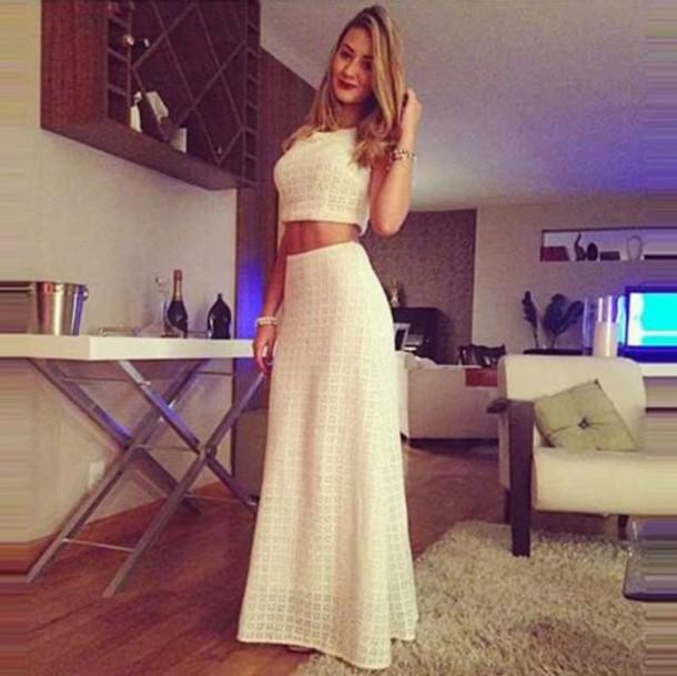 dress white skirt long