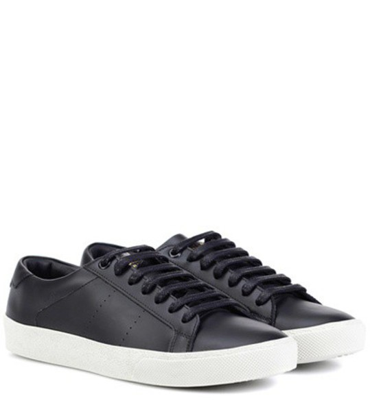 Saint Laurent classic sneakers leather black shoes