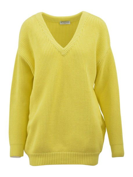 Balenciaga sweater oversized yellow