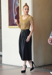top,pants,jennifer lopez,wide-leg pants,shoes,culottes