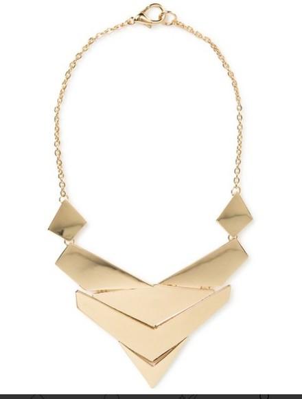 geometric jewels triangle necklace