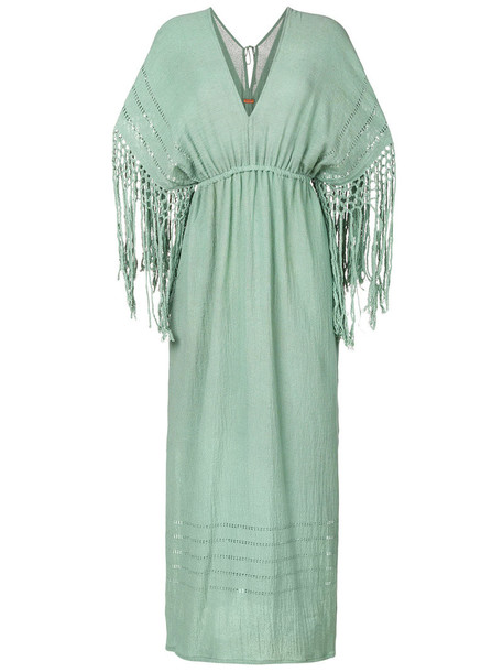 Caravana dress women cotton green