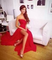 dress,long dress,red dress,red prom dress,burgundy