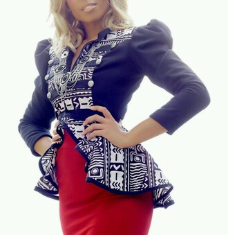 jacket african american african print african pattern african jacket black jewels ethnic ethnic pattern ethnic print white