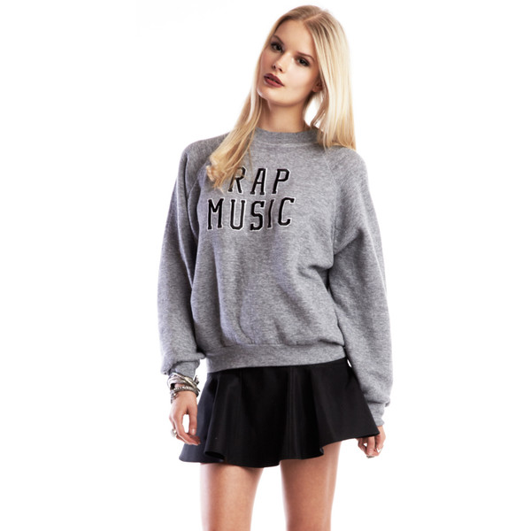 RAP MUSIC SWEATSHIRT - Polyvore