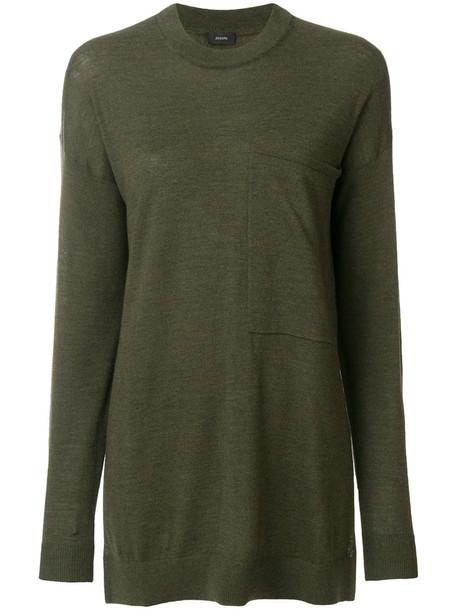 Joseph top women knit green