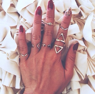 jewels ring knuckle ring silver jewelry boho jewelry stacked jewelry silver midi rings knot ring triangle rings and tings