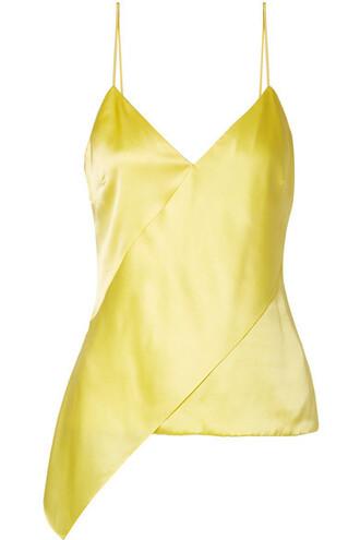 camisole silk yellow underwear