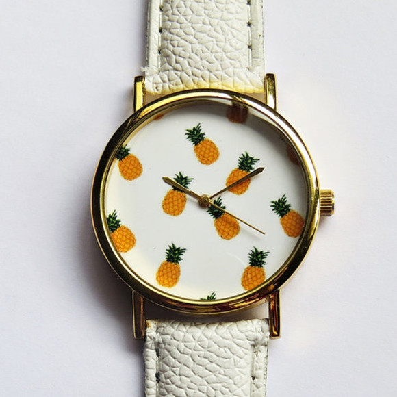 amazing jewels pineapple print watch clock pineapples freeforme ananas