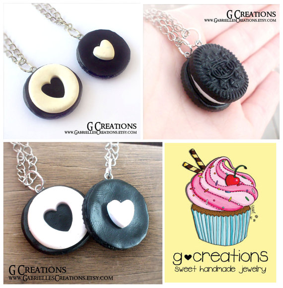 Mini heart realistic food miniature jewelry