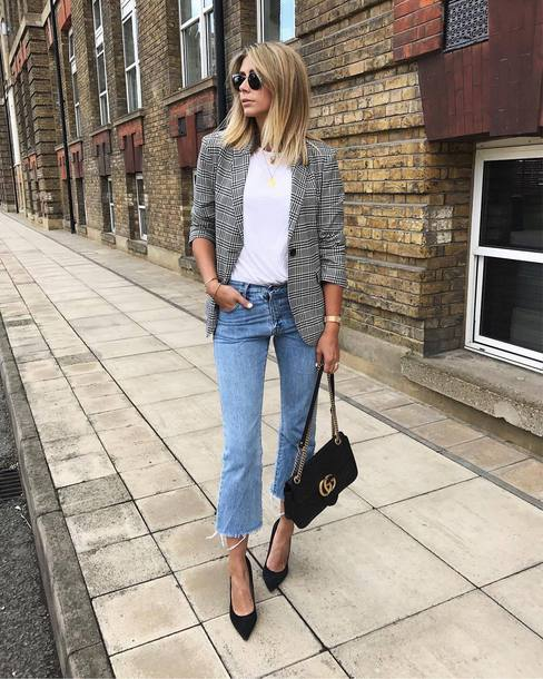 Jacket Tumblr Blazer Grey Blazer Denim Jeans Blue Jeans