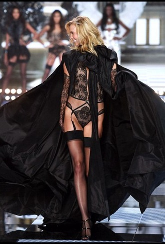 underwear karlie kloss victoria's secret model lingerie lingerie set sexy lingerie black top sexy
