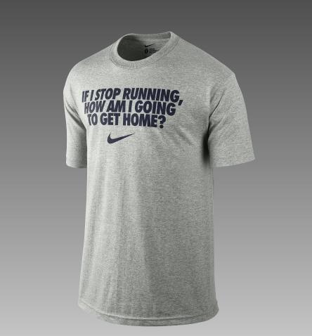 """Nike """"if i stop running"""" men's t"""
