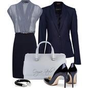 jacket,single button,navy,blazer,skirt,shoes,Navy blazer