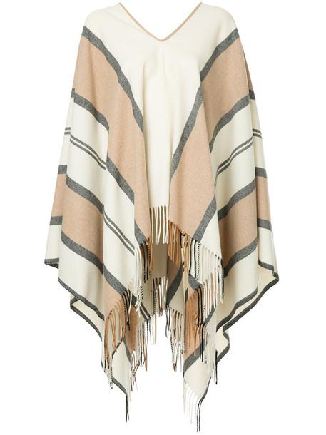 Estnation poncho women wool brown top