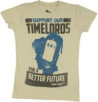 Doctor Who Support Our Time Lords for a Better Future (and Past!) Baby Doll Tee by Stylin Online - Teenormous.com