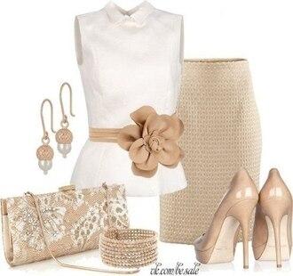 skirt beige skirt