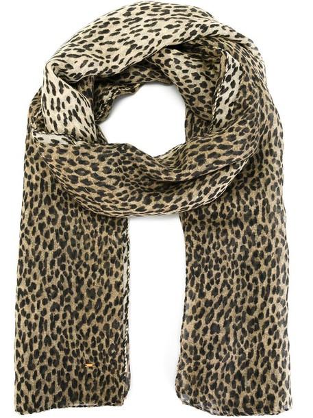 Saint Laurent leopard print scarf women scarf nude print silk leopard print