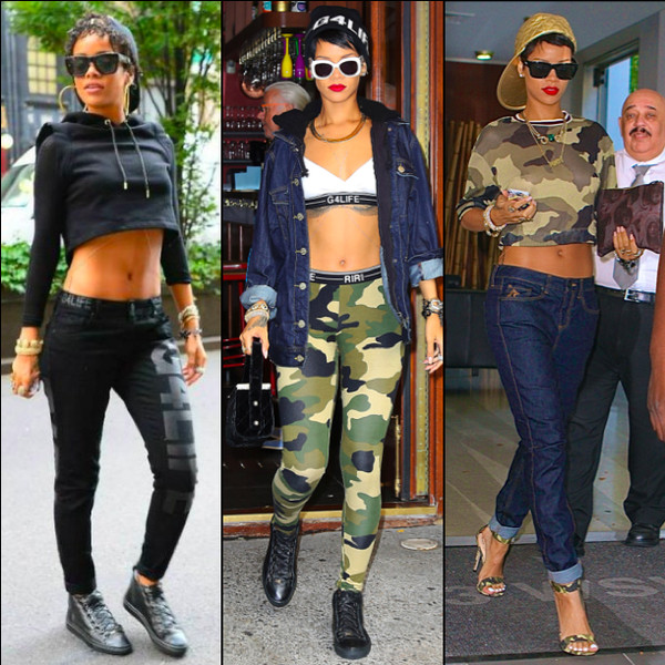tank top rihanna river island camouflage leggings t-shirt sweater jeans jacket