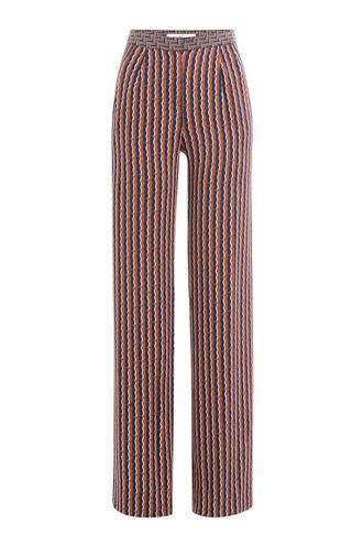 pants silk multicolor