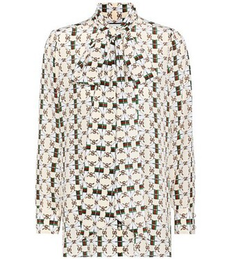 blouse bow silk top