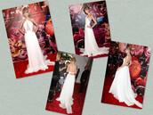 dress,white dress,red carpet dress,celebrity style,taylor swift dress,halter neck dress,sleeveless dress,a line dress