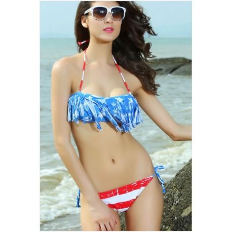 American Flag Sexy Women swimwear 2014 New Bikini With Inside Pads Push up bathing suit swimsuit lml5002 - lol-malls - Global Online Shopping for Women Fashion Dresses, Bikini, Skirt