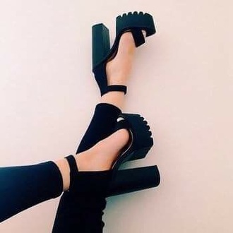 shoes chunky heels high heel sandals platform sandals black heels