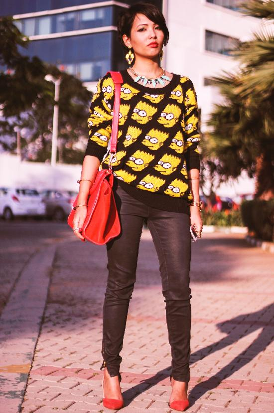 Bart Simpson Oversized Sweater - Knit Tops - Pullover - Knitwear - Clothing