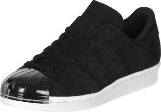 shoes adidas adidas superstars black metal low top sneakers black sneakers