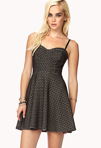 Dynamite Cutout Skater Dress | FOREVER21 - 2000127887
