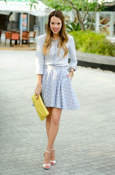 our favourite style shirt skirt shoes bag