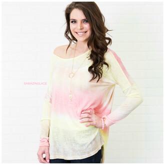 top dip dyed amazinglace.com amazinglace shirt long sleeves
