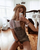 jumpsuit,dungarees,top,jewels,blouse,shirt,bikini,t-shirt,girl,hat,fashion,where did u get that,overalls,short overalls,penny top,penny tees,purple,white t-shirt,white,romper,trendy,cute top,indie,indie boho,style,shorts,denim,buckles,summer,spring,pockets,blue,grey,jacket,jeans,blue-grey overall,straw hat,denim overalls,necklace,aztec style necklace,summer outfits